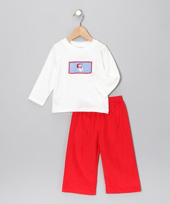 Red Santa Tee & Pants - Infant