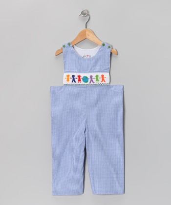 Blue Children of the World Gingham Overalls - Infant & Toddler