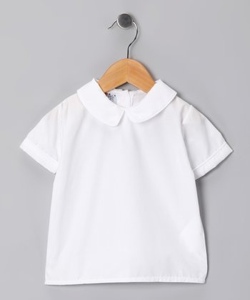White Short-Sleeve Shirt - Infant, Toddler & Boys
