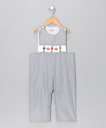 Black Nutcracker Overalls - Infant