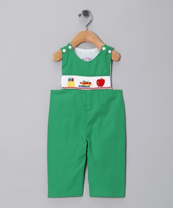 Green Back to School John Johns - Infant