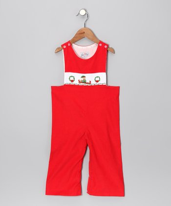 Red Elf Overalls - Infant & Toddler