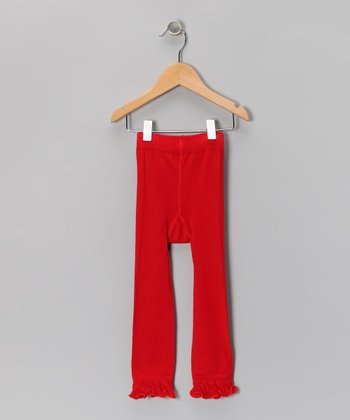 Red Leggings - Infant, Toddler & Girls