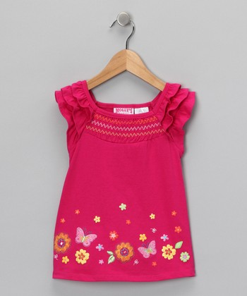 Pink Butterfly Top - Infant, Toddler & Girls