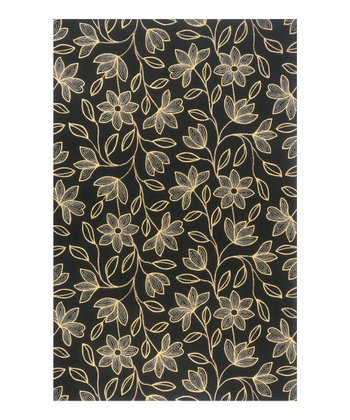 Black Isabella Wool Rug