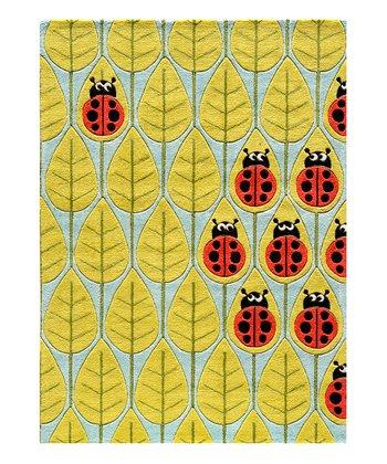 Red Nature's Ladybug Rug