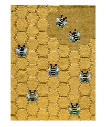 Gold Honeycomb Rug