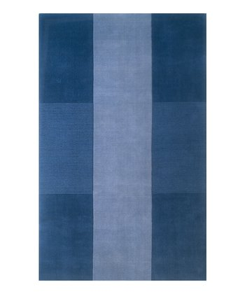 Light Blue Champion Wool Rug