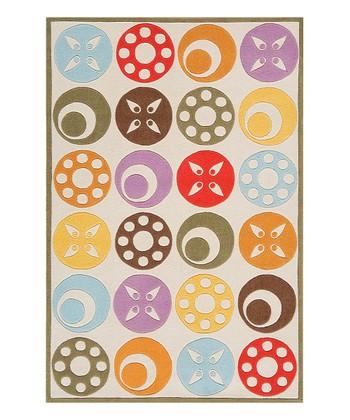 Ivory Circles Rug