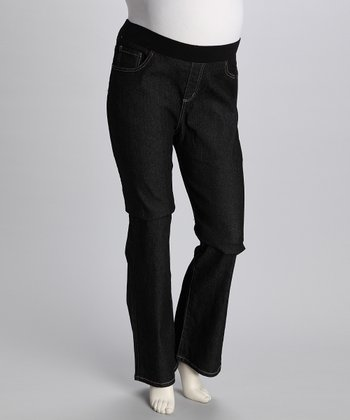 Dark Blue Jeaneology Maternity Jeans