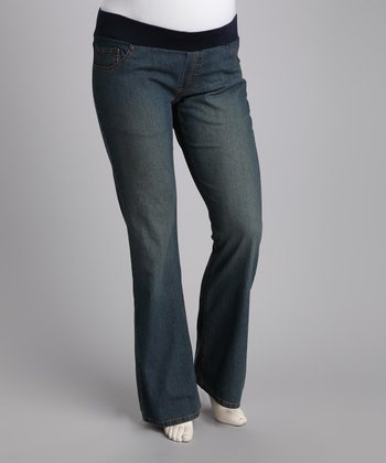 Light Denim in Your Jeans Underbelly Maternity Jeans