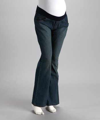 Light Wash Just a Second Skin Maternity Jeans