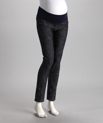 Blue Razor Wash Mid-Belly Maternity Jeans