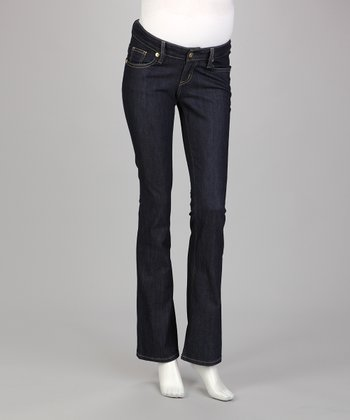 Dark Denim Low-Rise Maternity Jeans
