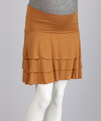 Butternut Tiered Maternity Skirt