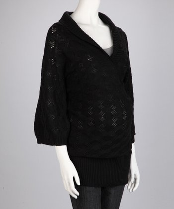 Black Maternity Sweater Tunic