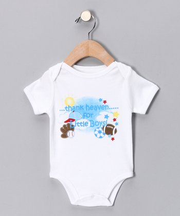 White 'Thank Heaven for Little Boys' Bodysuit