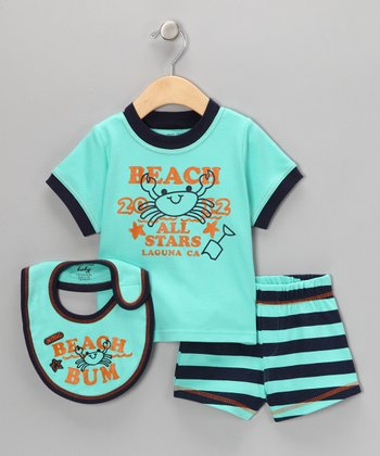 Aqua Crab 'Beach Bum' Shorts Set