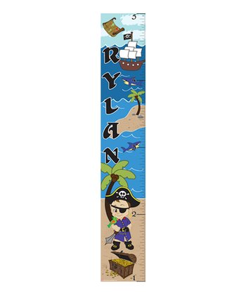 Brown-Haired Pirate Personalized Growth Chart