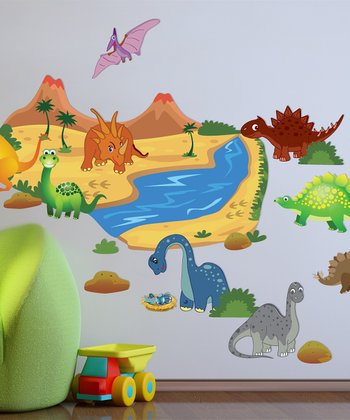 Dinosaur Interactive Wall Decal Set
