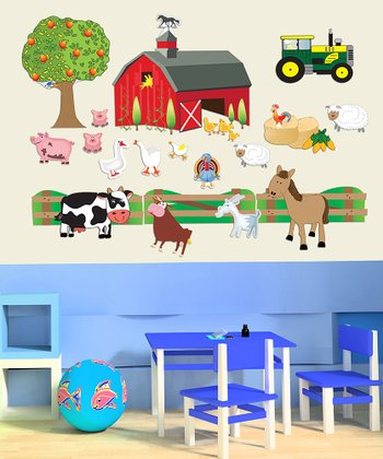 Farm Interactive Wall Decal Set