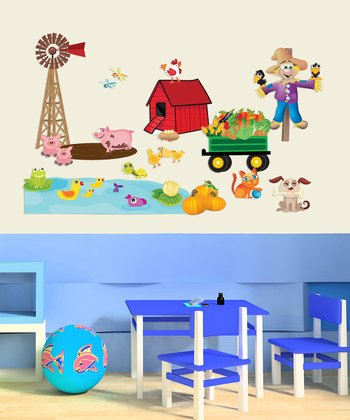 Farm Accessory Interactive Wall Decal Set
