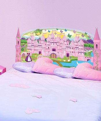Purple Princess Headboard Wall Decal