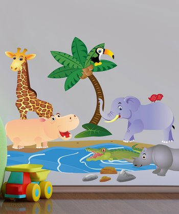 Jungle Interactive Wall Decal Set