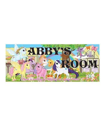 Pony Personalized Room Sign