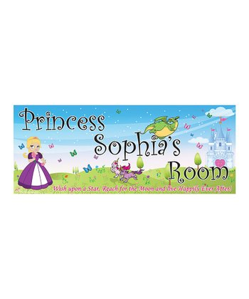 Mona MELisa Designs Purple Princess Girl Personalized Room Sign