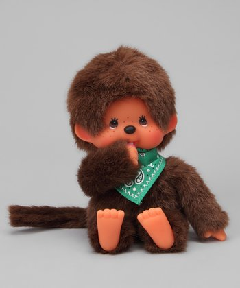 Green Bandanna Monchhichi Plush Toy