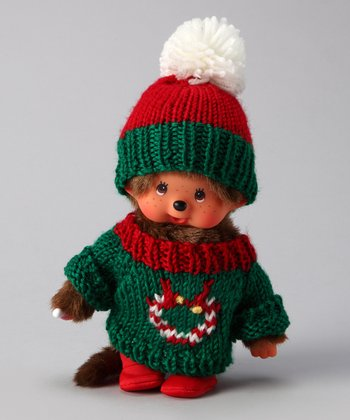 Green & Red Holiday Sweater Monchhichi