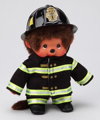 Firefighter Monchhichi Plush Toy