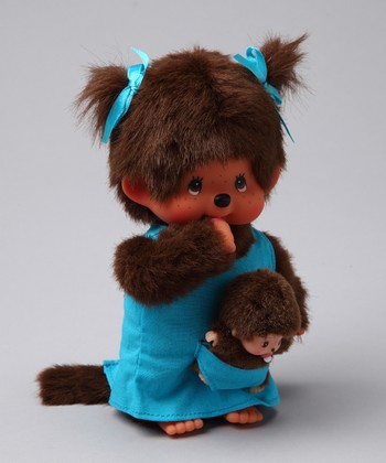 Blue Mother & Baby Monchhichi Plush Toy Set
