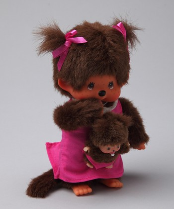 Pink Mother & Baby Monchhichi Plush Toy Set