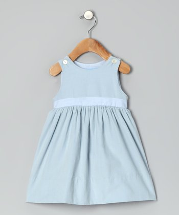 Powder Blue Corduroy Dress - Infant & Toddler