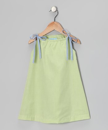 Lime Gingham Dress - Infant
