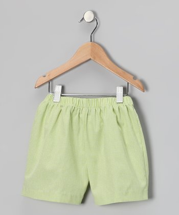 Lime Gingham Shorts - Infant & Toddler