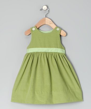Green Corduroy Dress - Infant & Toddler