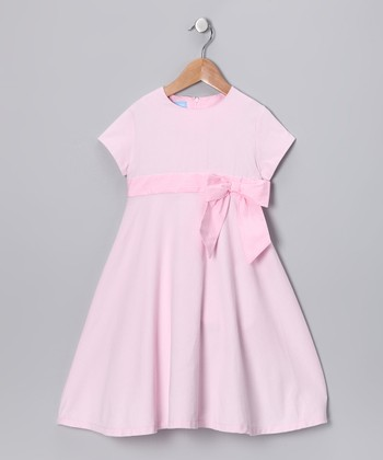 Pink Corduroy Initial Dress - Toddler & Girls