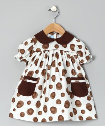 Brown Dot Babydoll Dress - Infant & Toddler