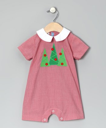 Red Tree Romper - Infant