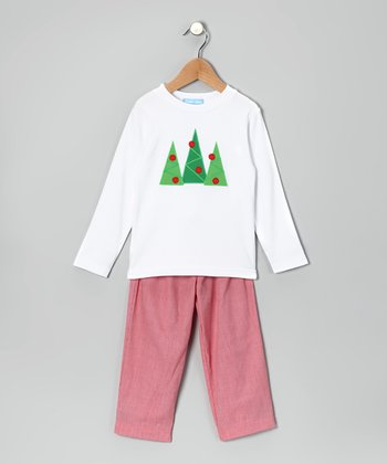 White Tree Tee & Red Pants - Infant