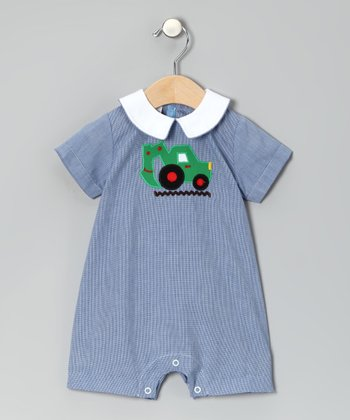 Blue Tractor Romper - Infant
