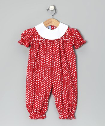 Red Bubble Playsuit - Infant