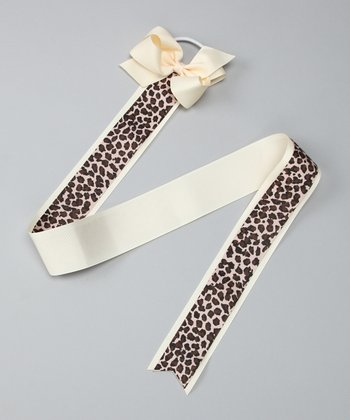 Leopard Hair Bow Holder