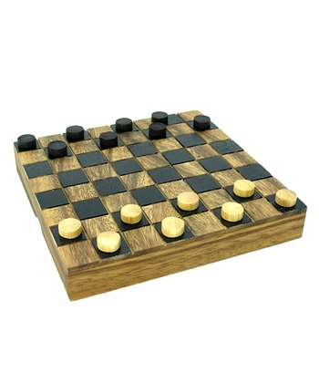 Wooden Sudoku Board & Checkers Set