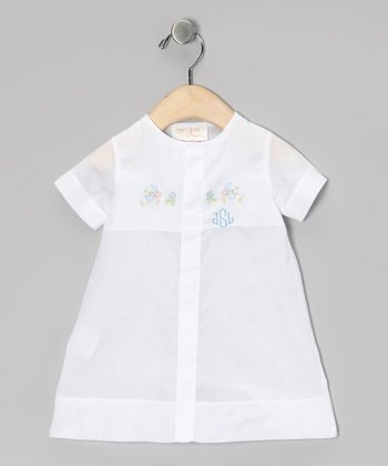 White Bear Monogram Gown - Infant