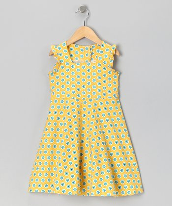 Yellow Babydoll Dress - Girls