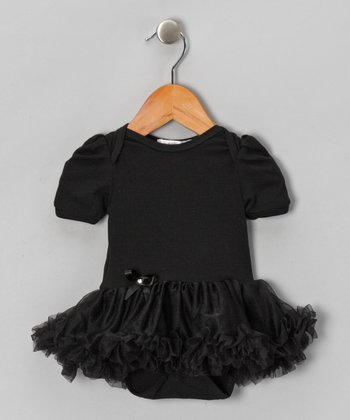 Black Ruffle Skirted Bodysuit - Infant